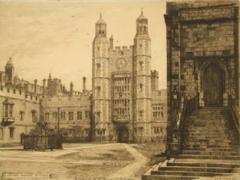 Edward John Burrow  etching 'Eton, Windsor'
